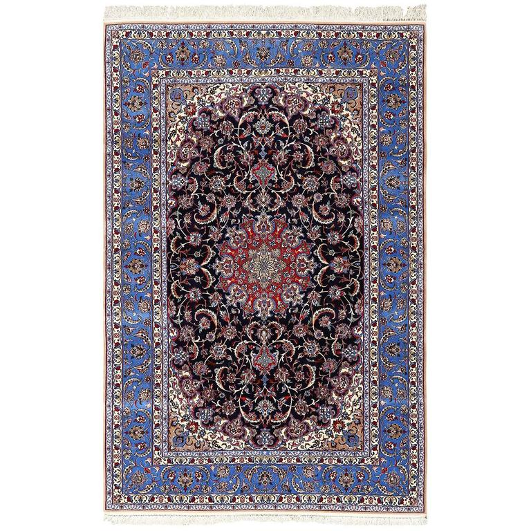 Vintage Isfahan Persian Rug For Sale