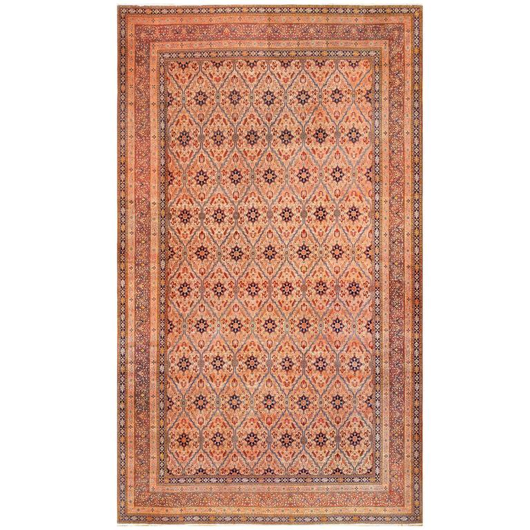 Oversized Antique Tabriz Persian Rug 1