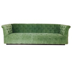 Milo Baughman Chesterfield Style Tufted Sofa
