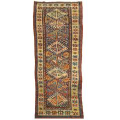 Antique Kazak Carpet, circa 1890