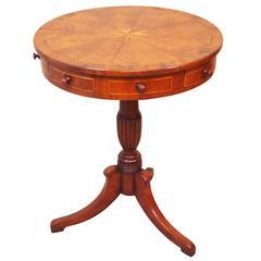 Antique Mahogany Maltese Type Drum Table
