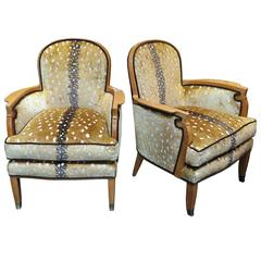 Pair of Jules Leleu Chairs, France, circa 1940s