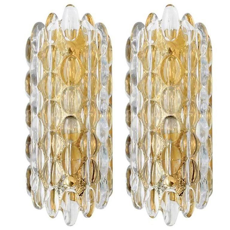 Carl Fagerlund for Orrefors Crystal Sconces 1