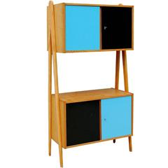 Modernist Czech Cabinet with V-Shaped Side Supports, Mid-20th Century