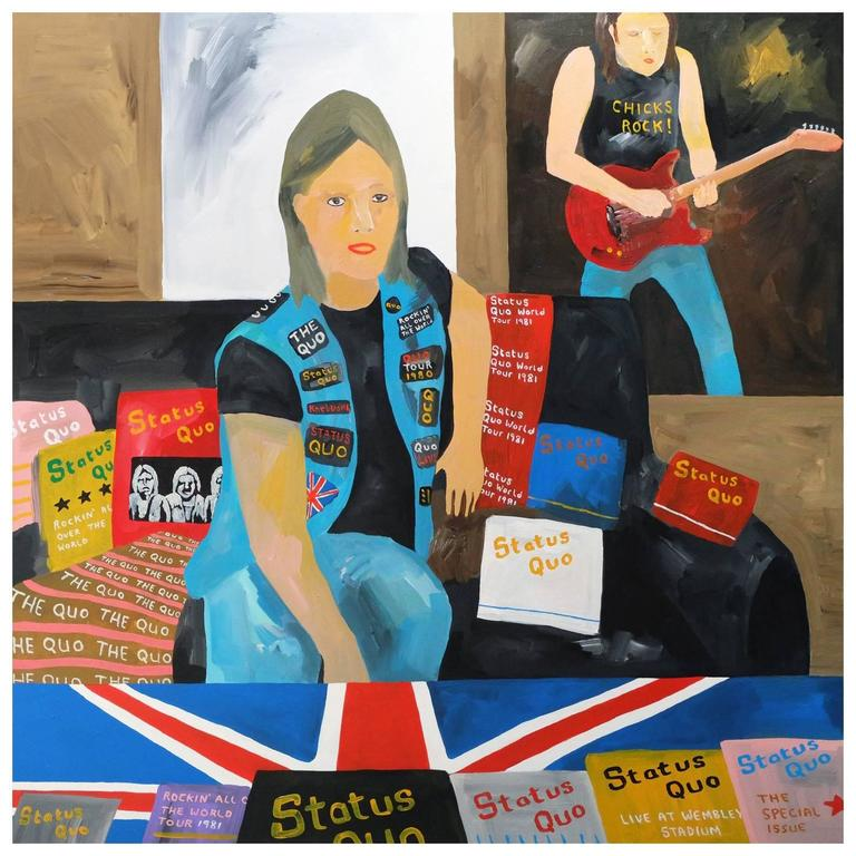 'The Status Quo' Portrait Painting by Alan Fears Pop Art