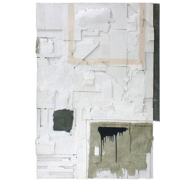 """Open Door"" Unique Wall Art, Cement, Concrete, Paint, Wood and Wonderboard For Sale"