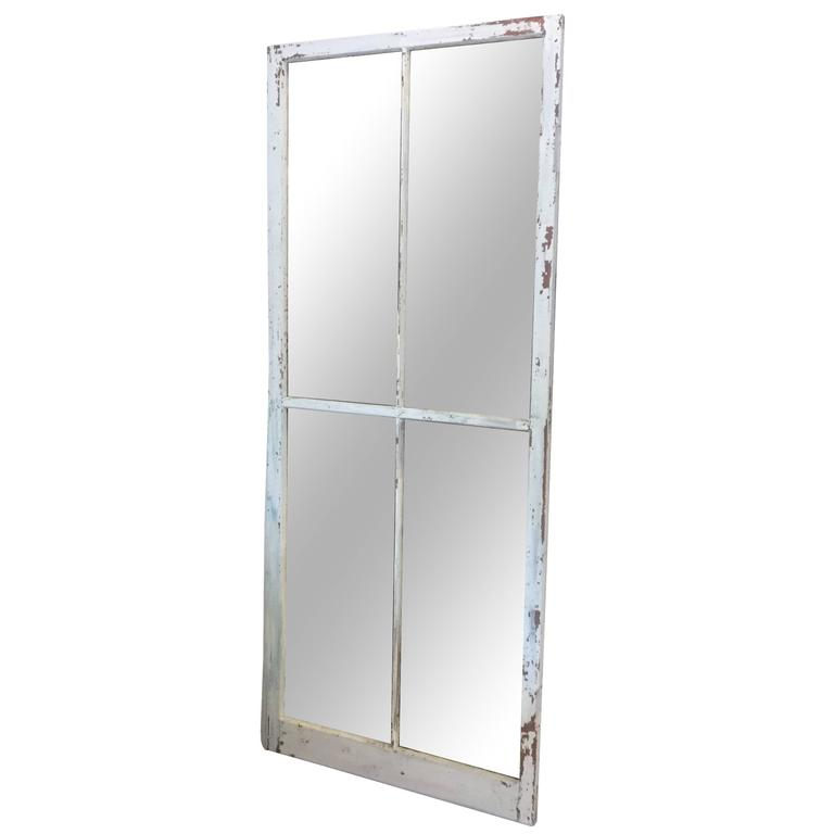 Tall four pane window mirror for sale at 1stdibs for Window mirrors for sale