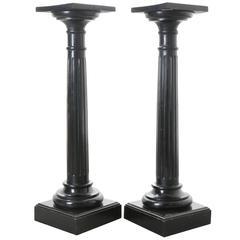 Pair of 19th Century French Ebony Columns