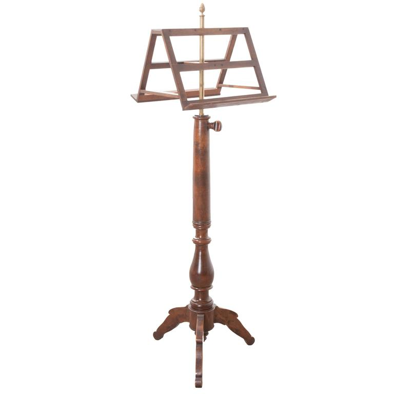 French 19th Century Walnut Duet Music Stand
