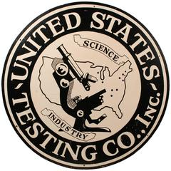 Science and Industry Sign from United States Testing Co