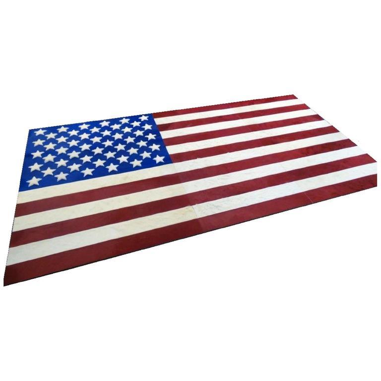 Hide Rug US Flag