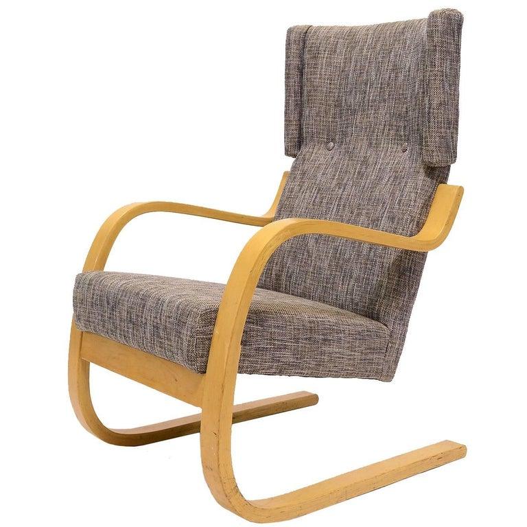 Alvar Aalto Model 36/ 401 High Back Lounge Chair
