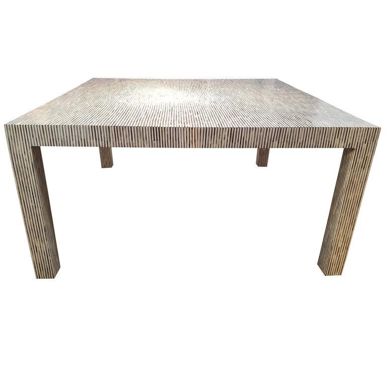 Grey Stripe Dining Table