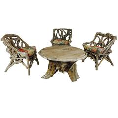 Rusti Adirondack Root Table and Chairs