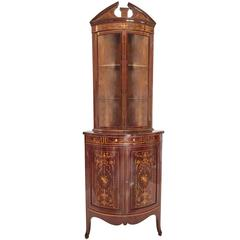 Exhibition Quality Inlaid Corner Cabinet
