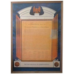 1961 Commemorative Declaration of Independence Lithograph