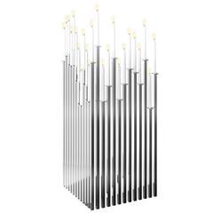 Luxury Modern Silver Steel Candelabra Room Divider Screen Candleholder