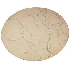 Rare Circular Rug Designed by Marion Dorn for Edward Fields