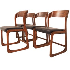 Set of Four Baumann Dining Room Chairs, 1970s