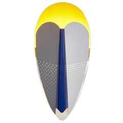 Sorcier Wall Lamp, Blue and Gold