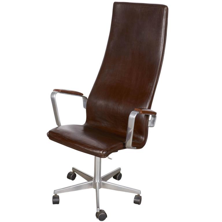 Fritz Hansen Oxford High Back Desk Chair For Sale At 1stdibs