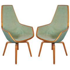Arne Jacobsen Giraffe Chairs, Pair
