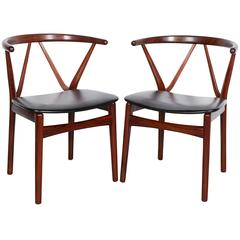 Rosewood Dining Chairs by Henning Kjaernulf, Set of Four