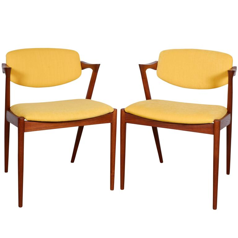 Kai Kristiansen No. 42 Dining Chairs, Set of Six 1