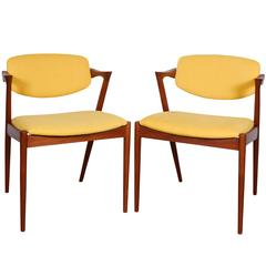 Kai Kristiansen No. 42 Dining Chairs, Set of Six