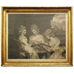 18th C. English Engraving of Daughters of Earl of Waldergrove