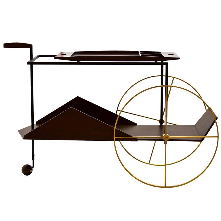 'JZ' Trolley by Jorge Zalszupin For Sale