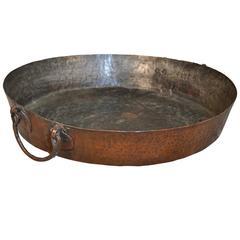 Large Italian 18th Century Copper Pan