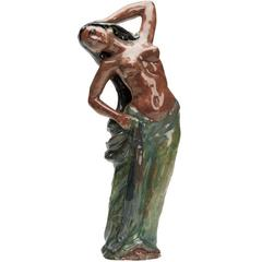 Wiener Werkstatte Austrian Art Pottery Dancer Figure, , 20th Century