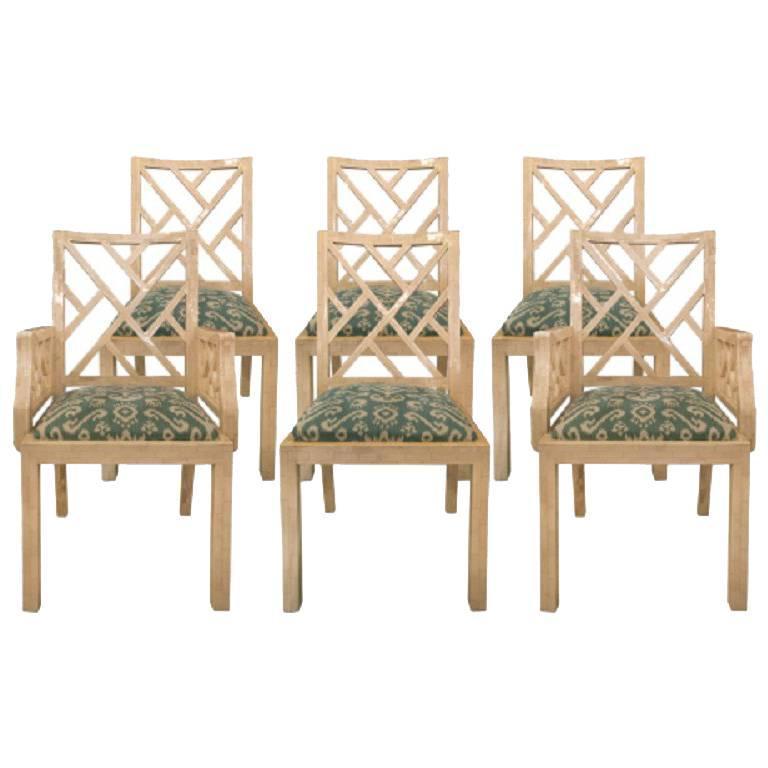 Set of Six Bone Dinning Chairs