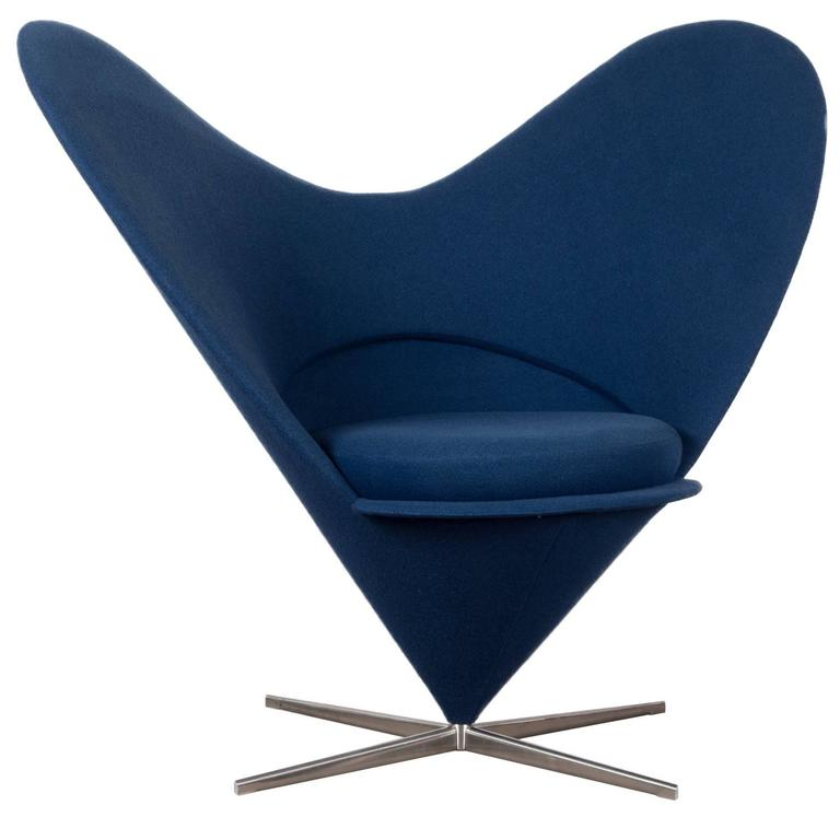 verner panton cone heart chair by vitra germany for sale. Black Bedroom Furniture Sets. Home Design Ideas