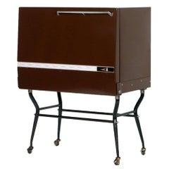 Mid-Century Working Fridge Dry Bar Cart Cabinet Triennale Design Museum Milan