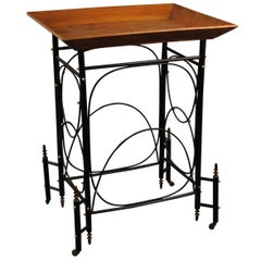 French Ebonized and Fruitwood Vide-Poche Table