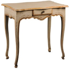 19th Century French Provincial Painted Centre Table