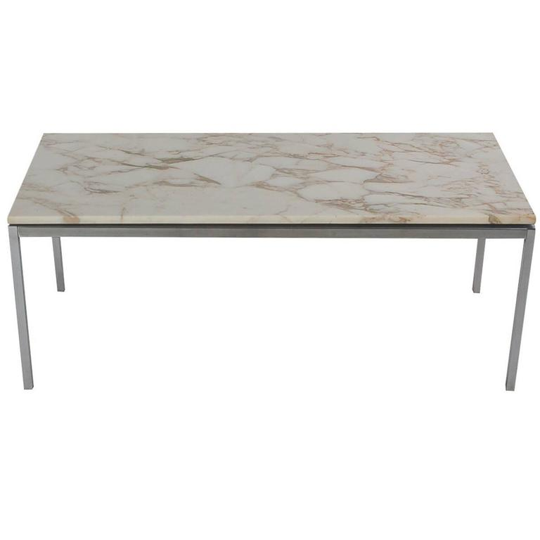 Mid Century Modern Marble Cocktail Table By Florence Knoll For Knoll