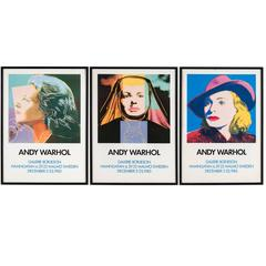 Triptych Portrait of Ingrid Bergman posters after Andy Warhol