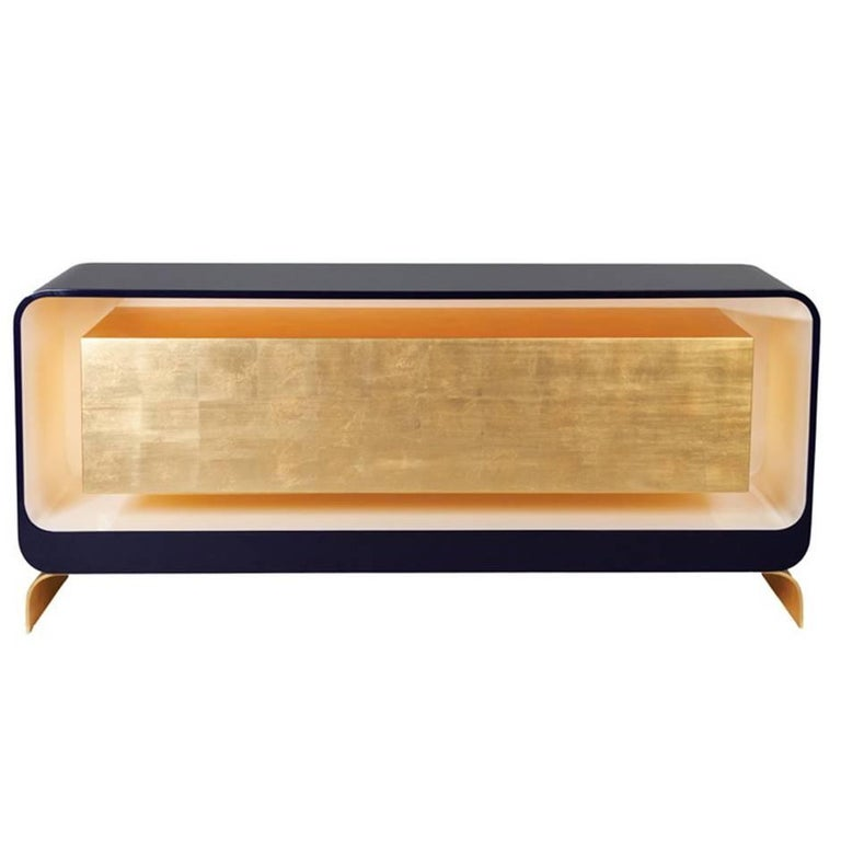 Lingot Sideboard by Karina Sukar, Contemporary Gold Leaf and Lacquer Sideboard