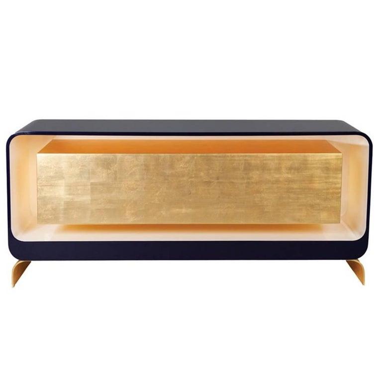 Lingot sideboard by karina sukkar contemporary gold leaf for Sideboard gold