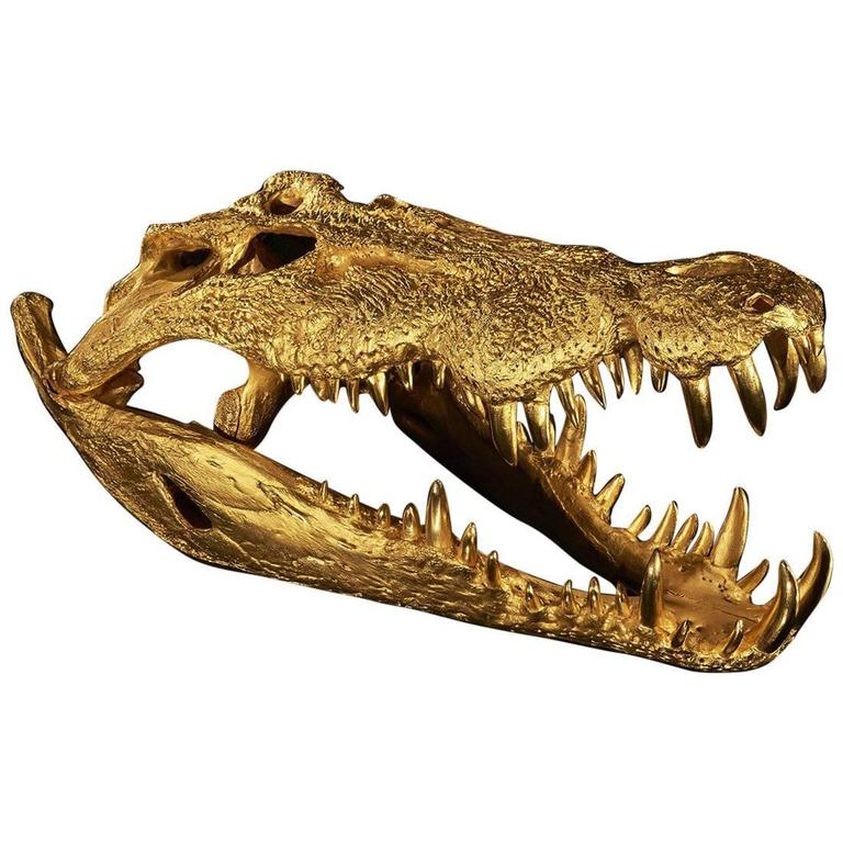 Croco by Charles, Limited Edition, Made of Bronze For Sale