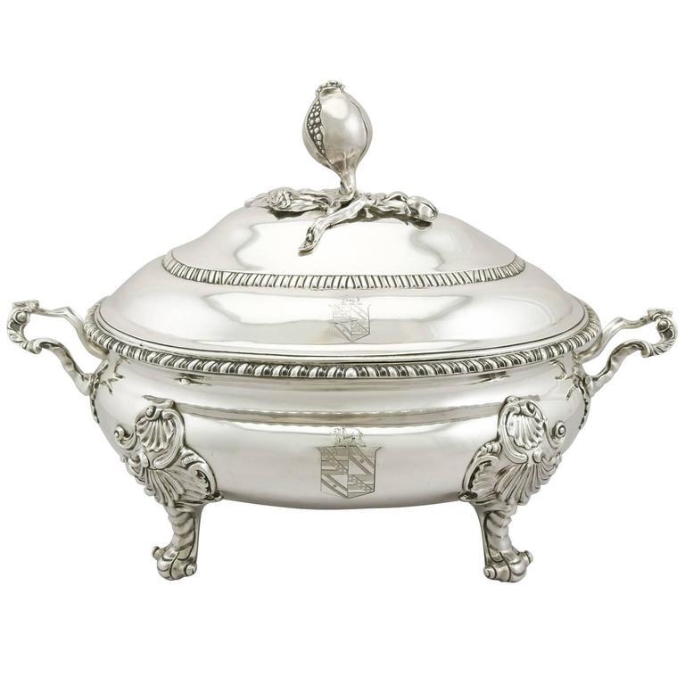 Georgian Sterling Silver Soup Tureen
