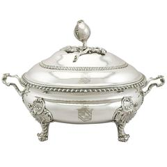 Georgian Sterling Silver Soup Tureen