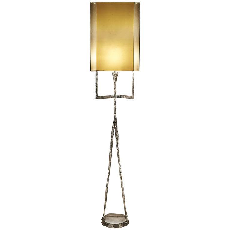 Echassier Floor Lamp, Signed, Design Felix Agostini, Made of Bronze