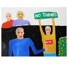 'The Protestinators' Portrait Painting by Alan Fears Pop Art