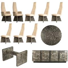 Adrian Pearsall Brutalist Dining Suite