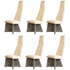 Six Adrian Pearsall Brutalist Chairs