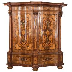 Original Austrian Baroque Cabinet Mid-18th Century Maria Theresien Cabinet